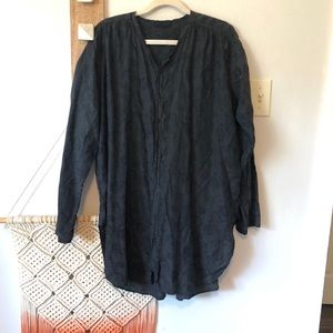 CP Shades Cotton/Silk Embroidered Tunic Top